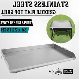 "36"" x 22"" Stainless Steel Griddle Flat Top Grill For Triple"
