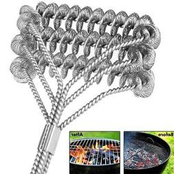 """Hot BBQ Grill Brush Cleaner 18"""" Grilling Tool Cleaning Stain"""