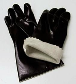 Insulated Food Handling Gloves Black Rubber Pair Mr Bar B Q