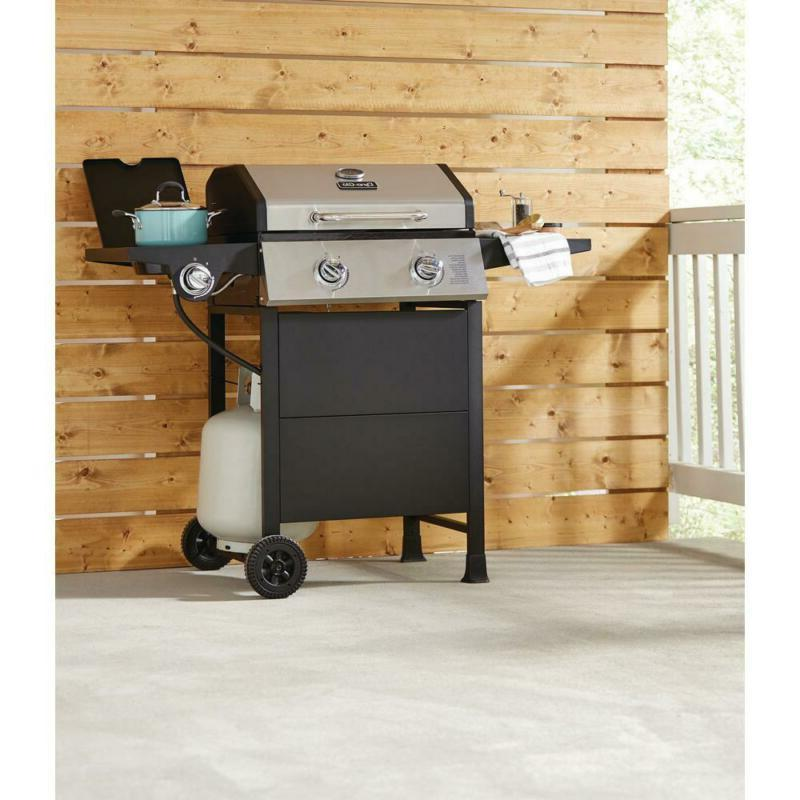 2-Burner Gas Grill in Steel with Side