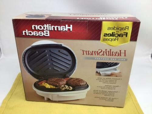 Hamilton 25219 Health Smart Contact Grill Cooking NEW BOX