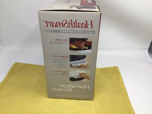 Hamilton 25219 Health Smart Contact Grill Cooking