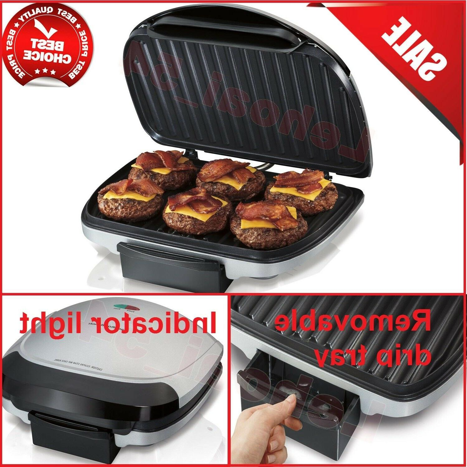 25371 electric indoor grill with 90 non