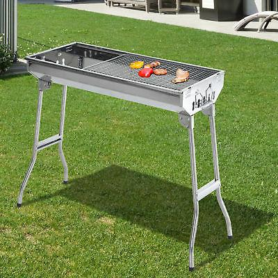 29 bbq charcoal grill stainless steel fordable