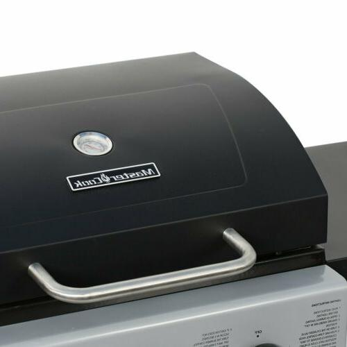 3 Gas Grill BBQ Steel Outdoor Cooking Barbecue