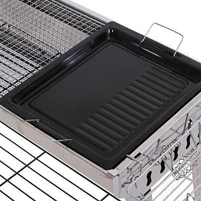 "41"" x Steel Folding Portable Charcoal Barbecue"