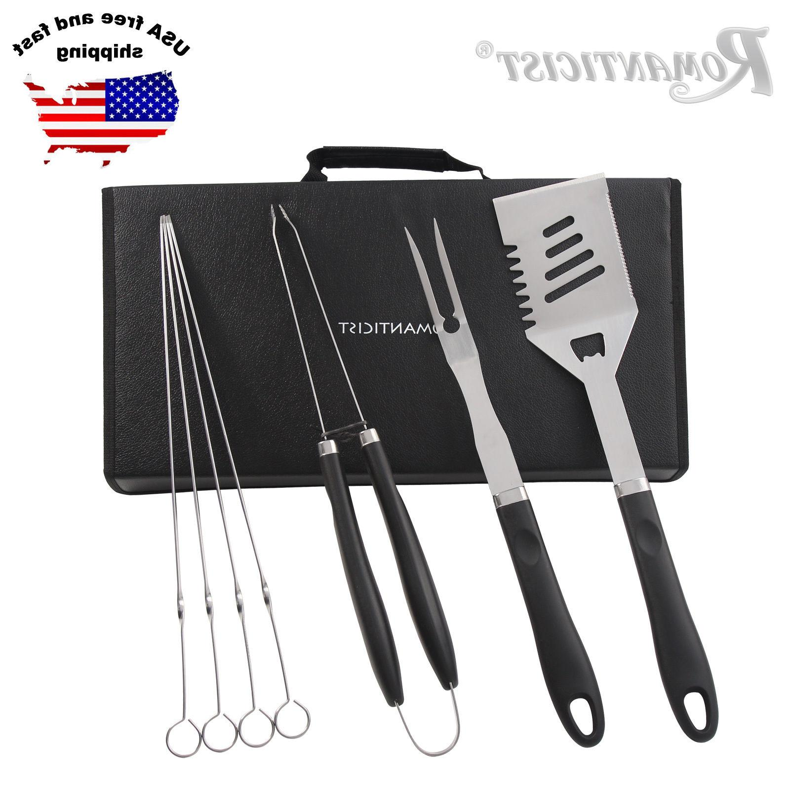 7 Piece Grill Tools set Stainless Steel BBQ Tools Set Barbec