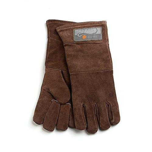 "Outset - 15"" Leather Grill Gloves  - Brown"