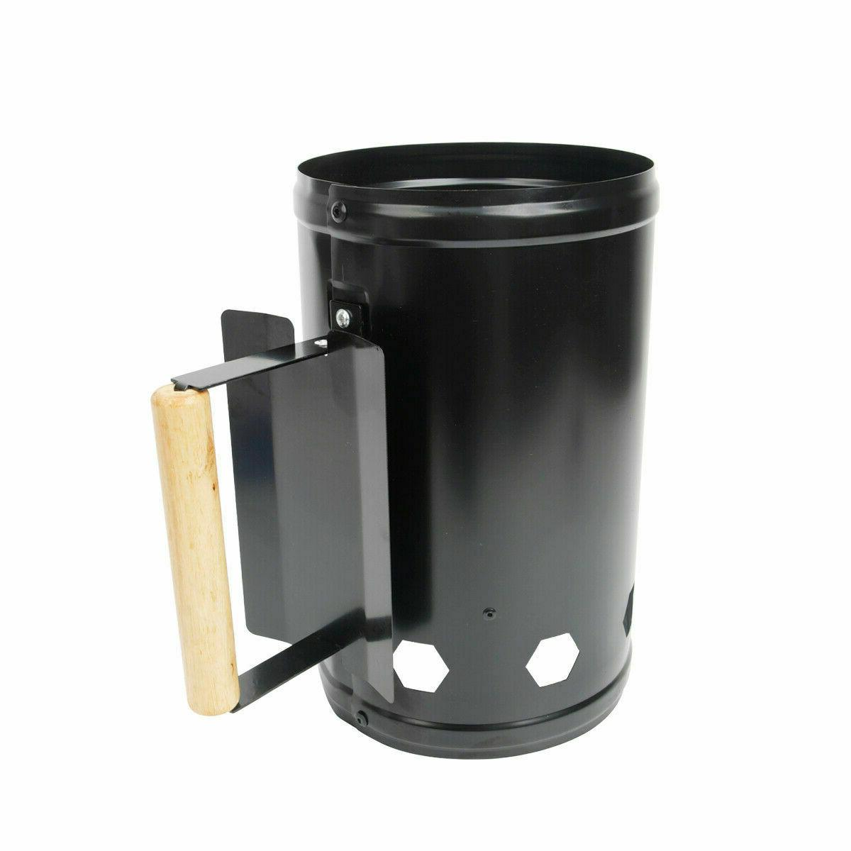 Barbecue BBQ Chimney Charcoal Steel Rapid Quick