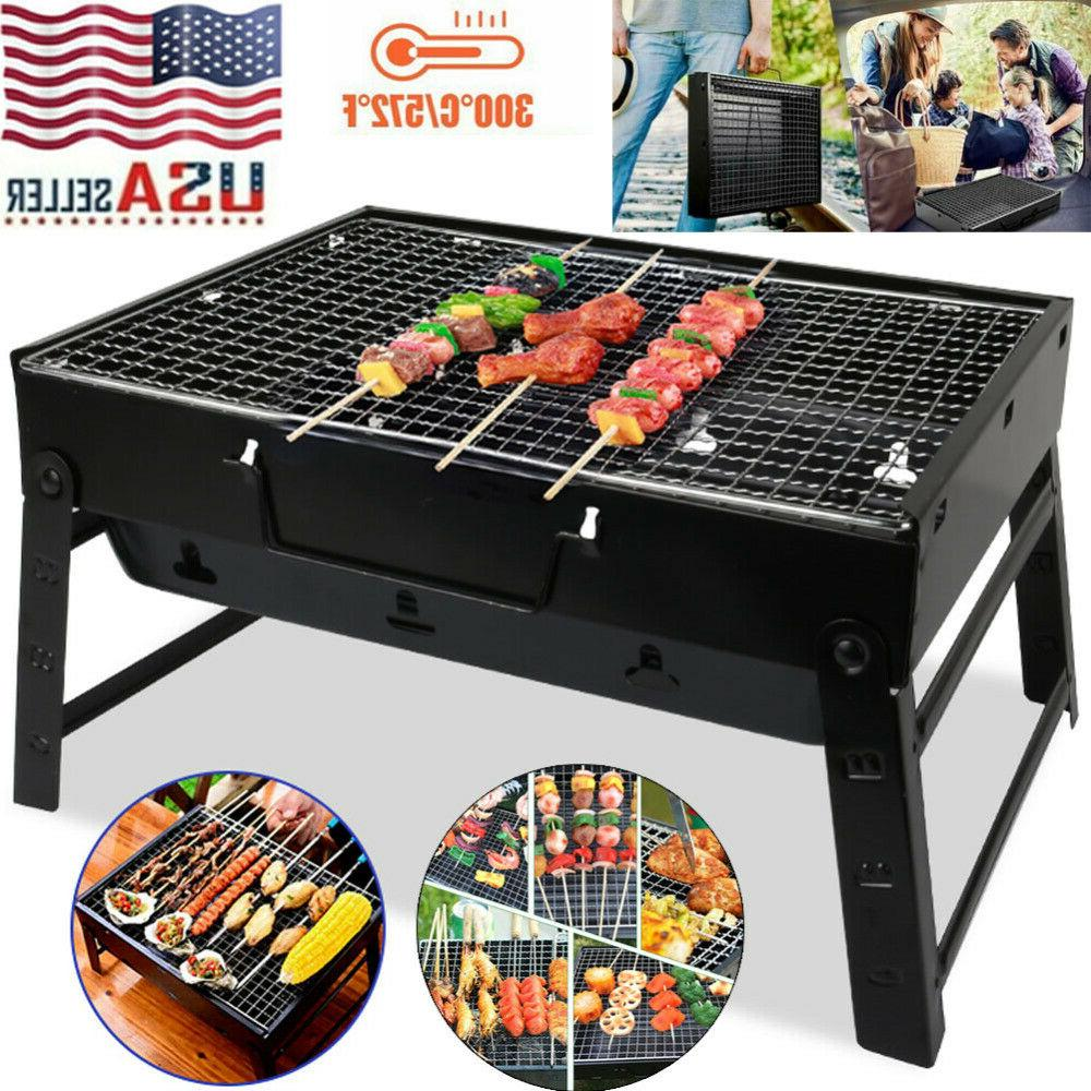 bbq barbecue grill folding portable charcoal kabob