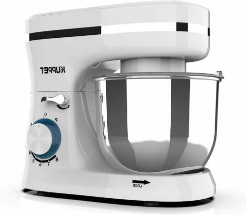 Electric Stand Mixer 8 4.7QT White