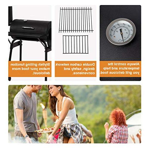 BBQ Grill Charcoal Barbecue Outdoor Patio Home Black
