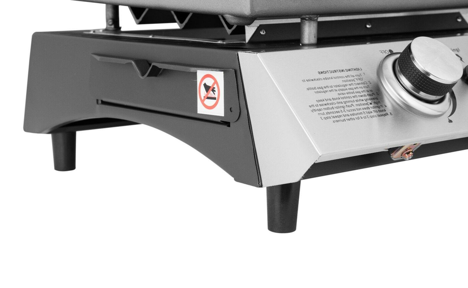 Royal Gourmet Propane Gas Grill 2 Tabletop Portable