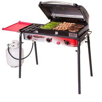 big gas 3 burner grill