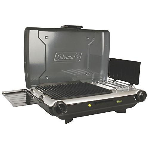 Coleman Portable 2-Burner Propane Grill and Stove Combo