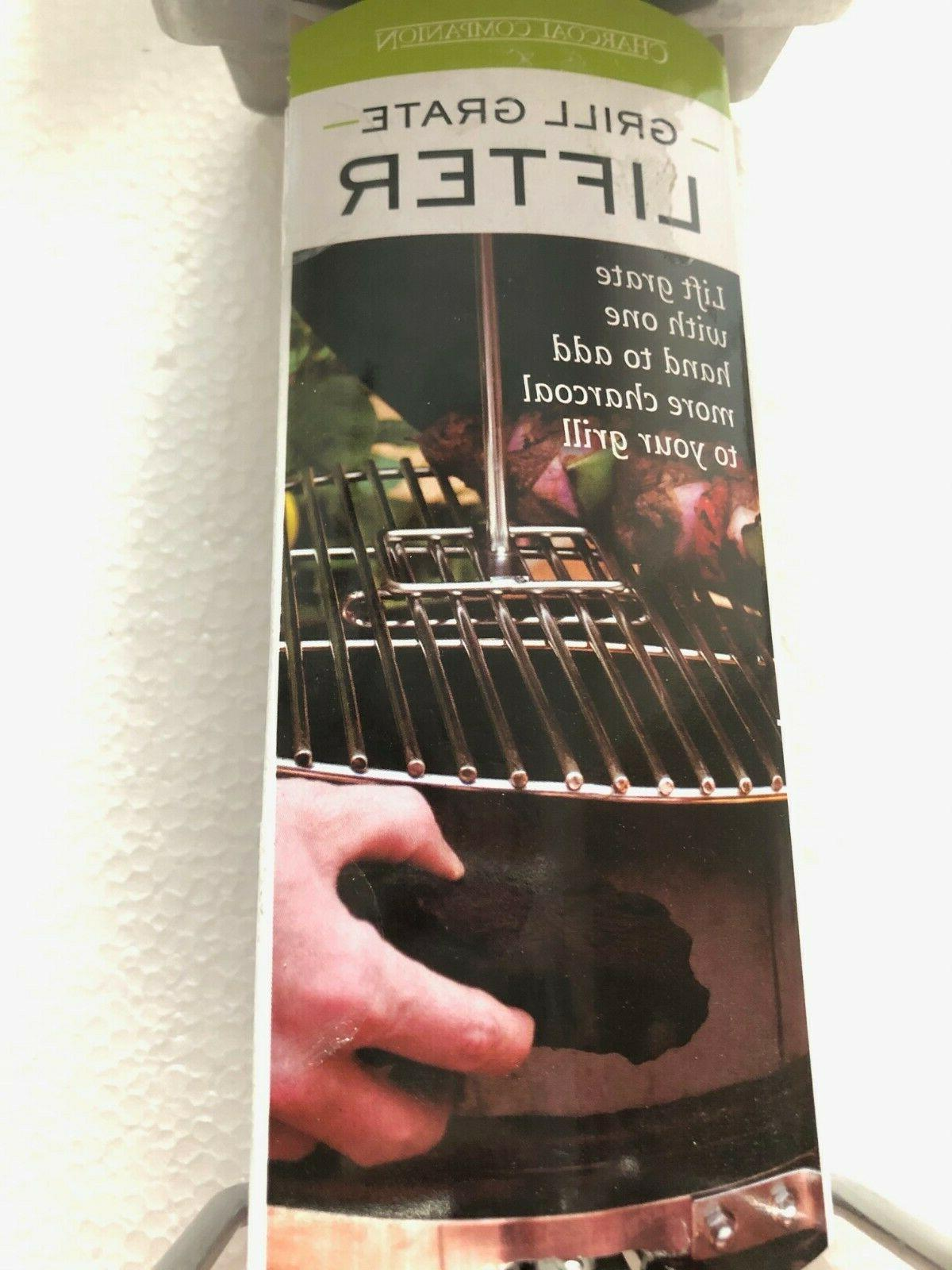 Charcoal Companion CC7353 Grill Grate Lifter, Steel