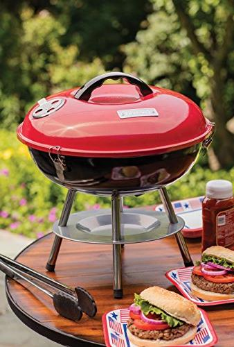Cuisinart Charcoal Grill, 14-Inch, Red