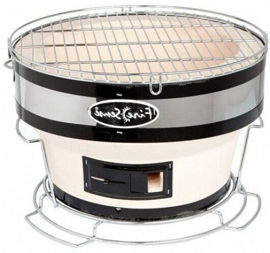 ceramic clay charcoal barbeque grill