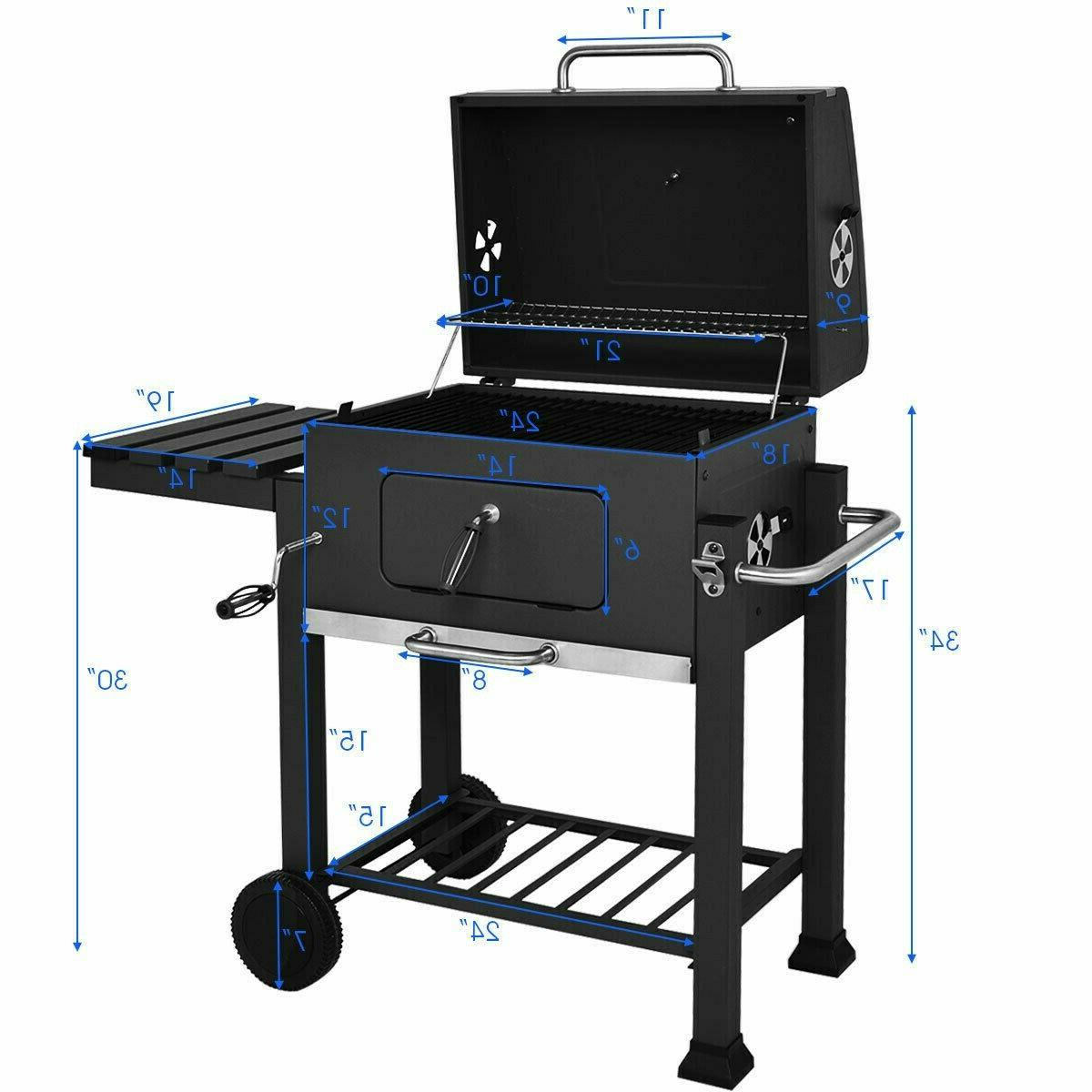 Costway Charcoal BBQ Grill Backyard Cooking