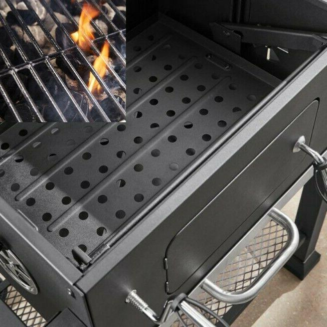 Charcoal Grill Cooking BBQ Smoker Garden Heavy Duty