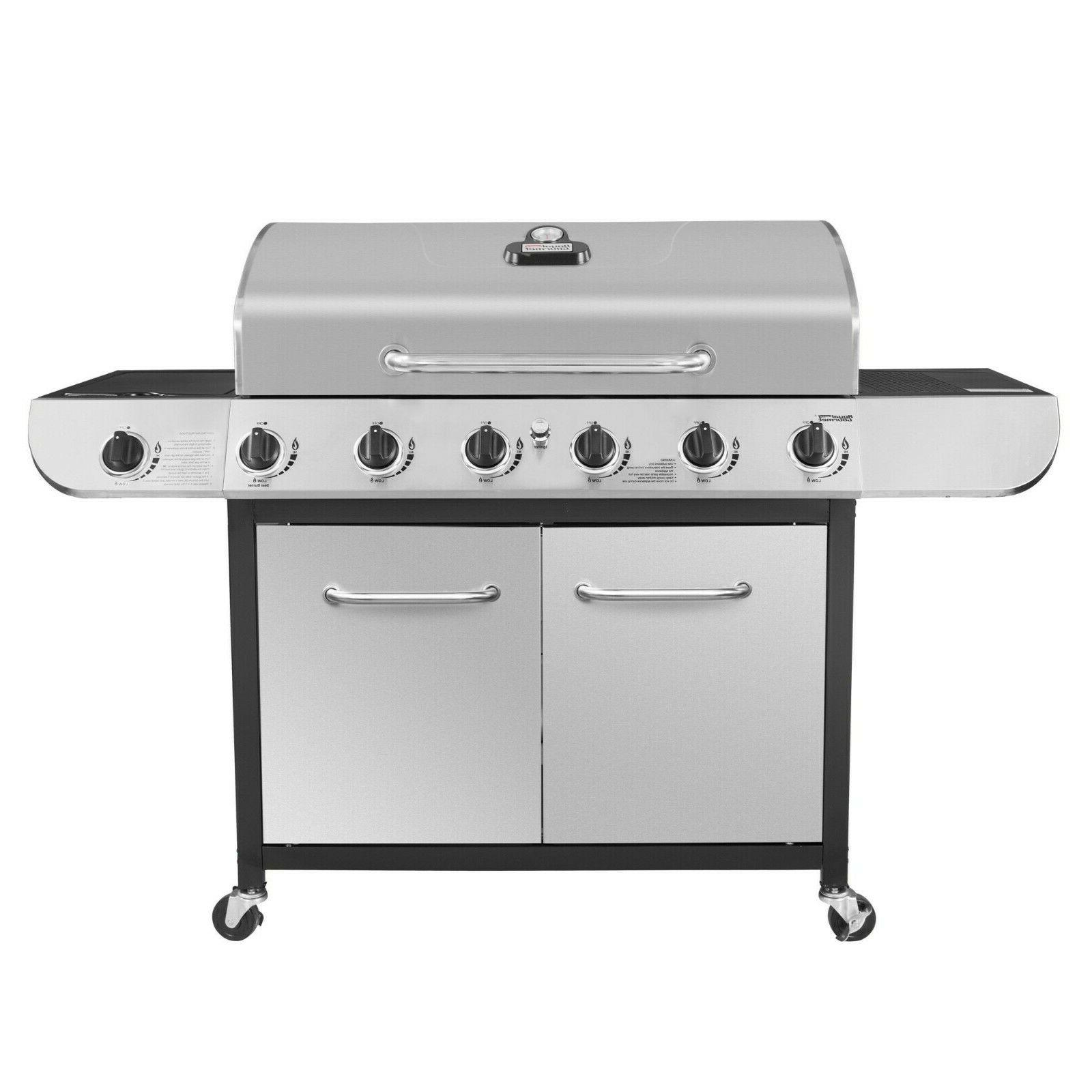 classic 6 burner stainless steel