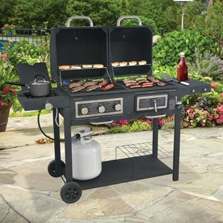Burger Grill Comes Plated Warming a Heat Plate,3-burner Grill and Has a Handy Holders