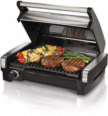 electric indoor searing grill with removable plates