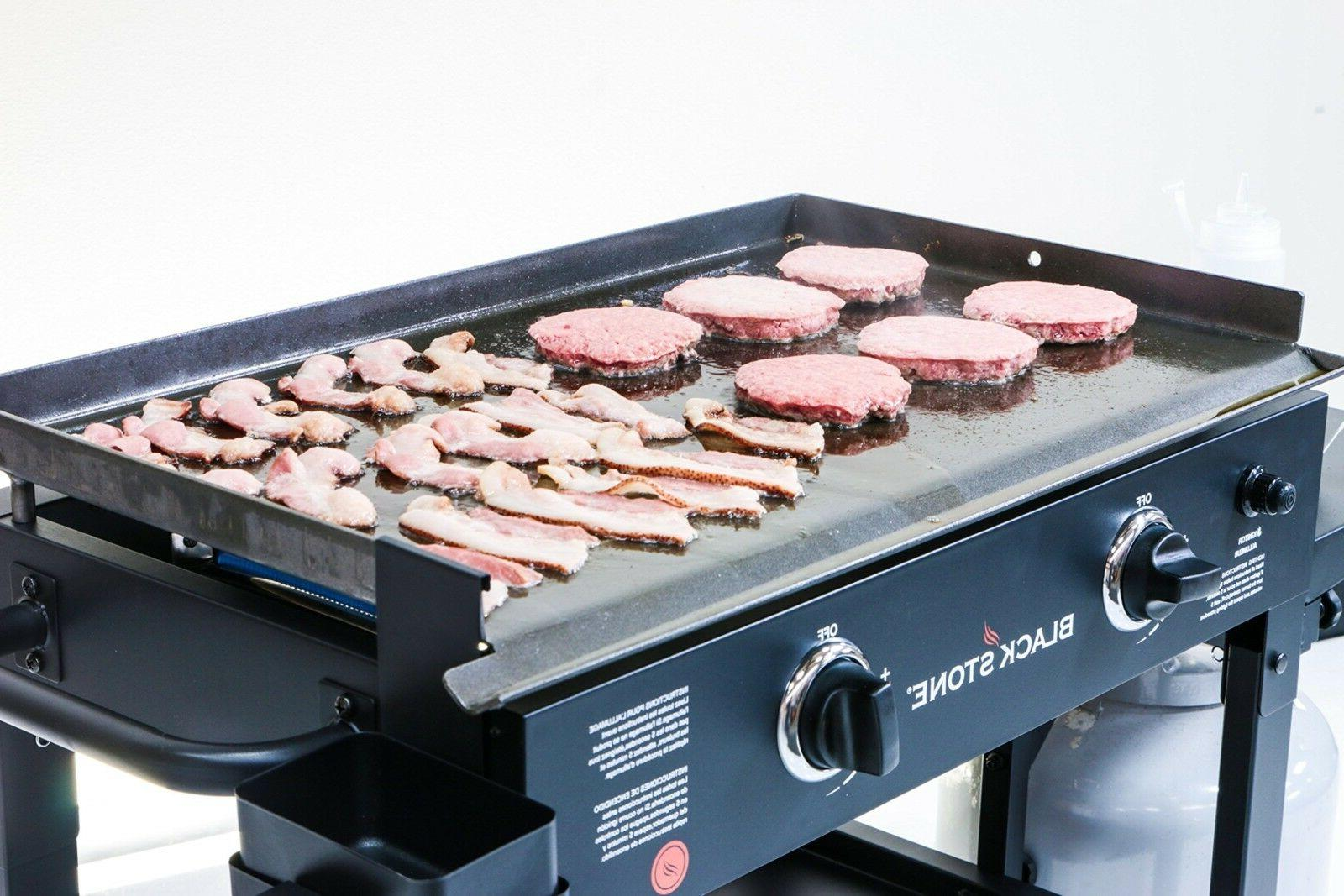Flat Top Party Gas Grill BBQ Burger Vegetable Breakfast Pan