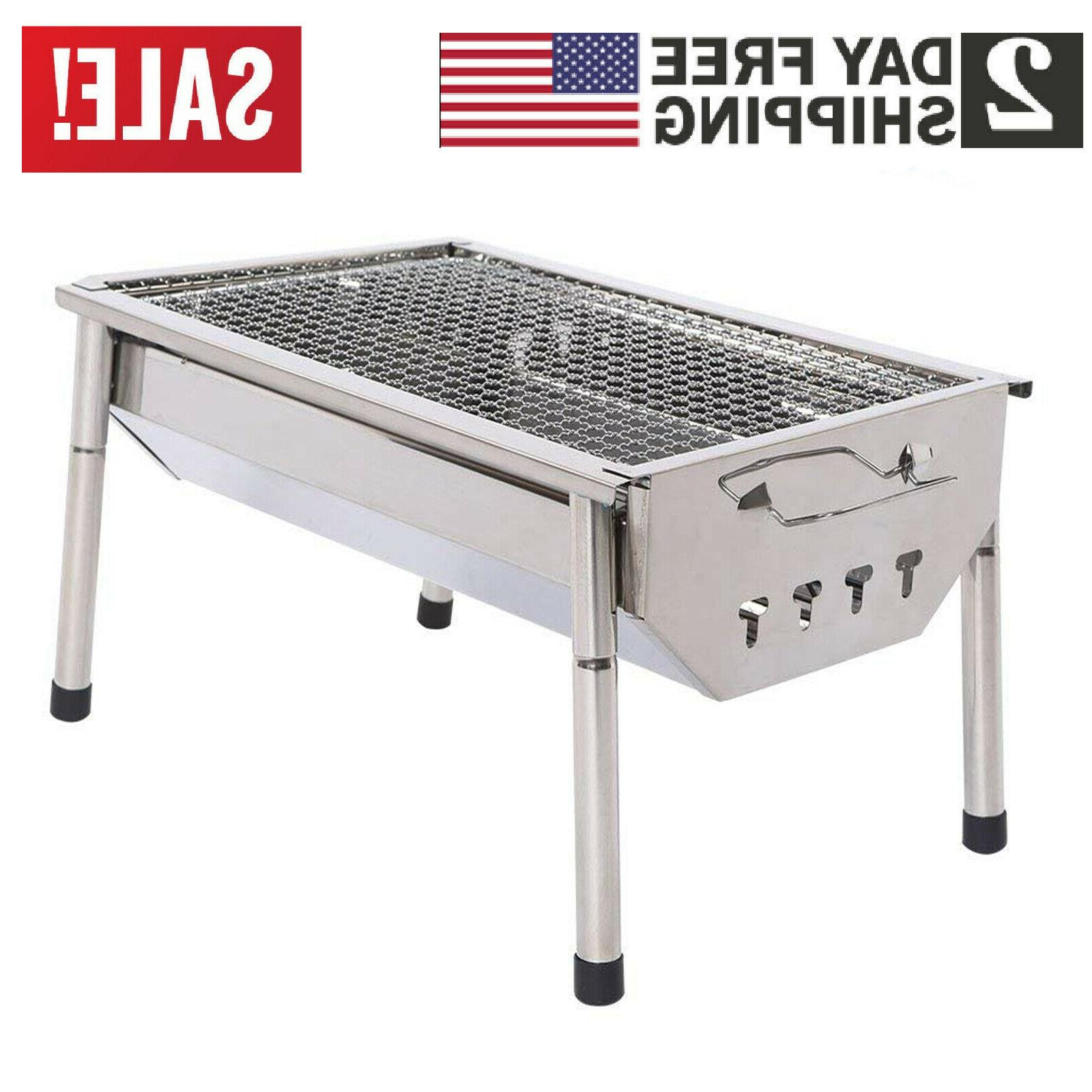 fold barbecue charcoal grill stove