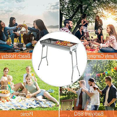 Outsunny BBQ Grill Steel Fordable