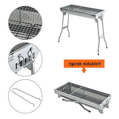 """Outsunny 29"""" Grill Stainless Steel Backyard Silver"""
