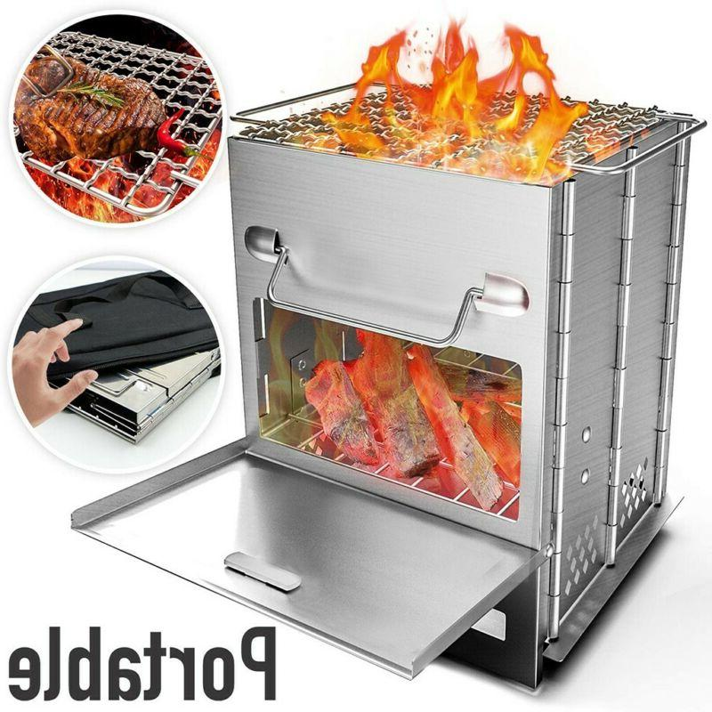 Foldable Barbecue Charcoal Grill Stove Shish