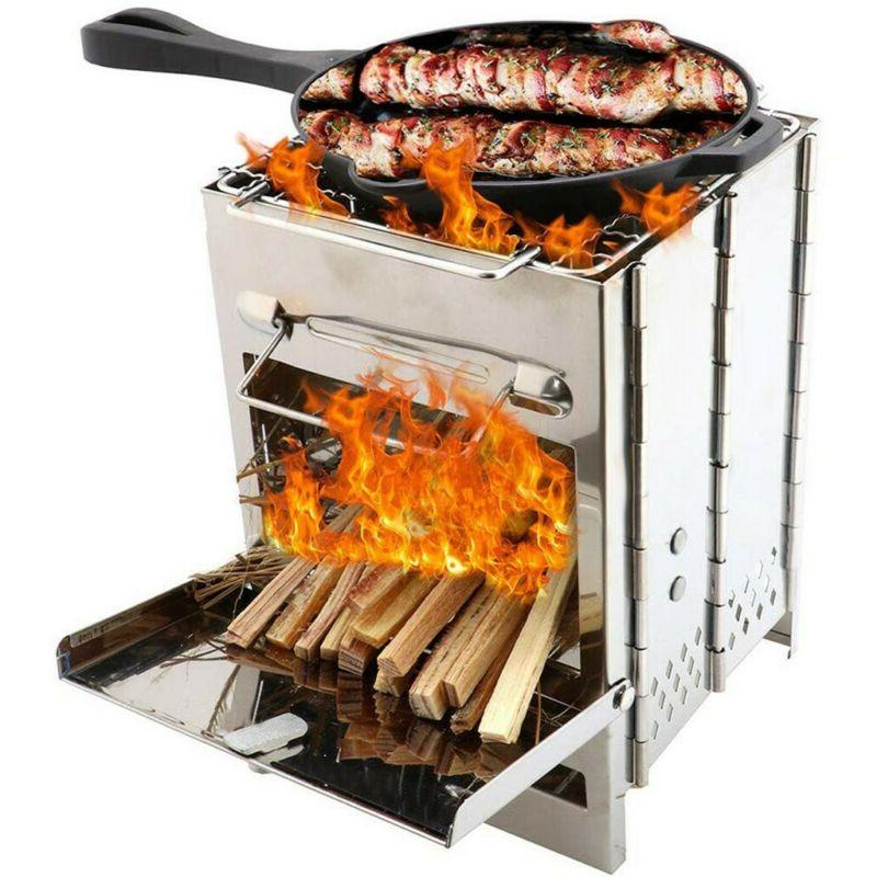 Foldable Barbecue Grill Stove BBQ Shish Cooker