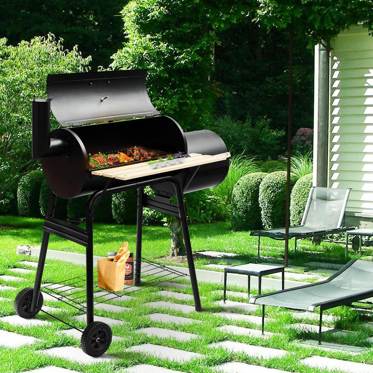 Goplus Outdoor BBQ Grill Charcoal Barbecue Pit Patio