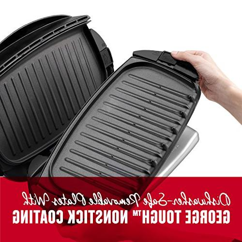 George 5-Serving Plate Electric and Panini Press, Black,