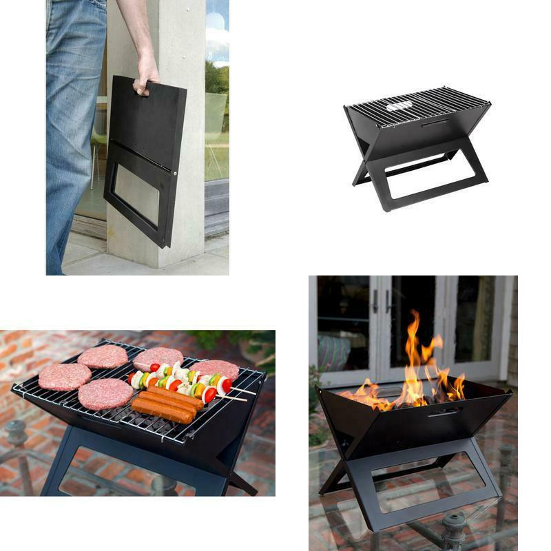hotspot notebook portable charcoal grill in black