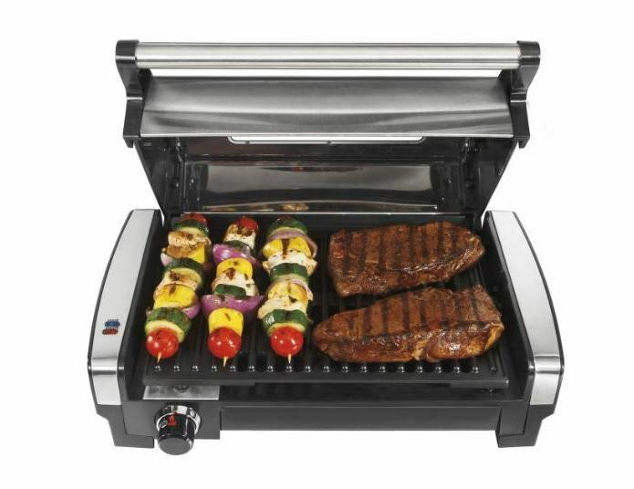 Hamilton Beach Indoor Electric Grill Searing Grill Safe Nons