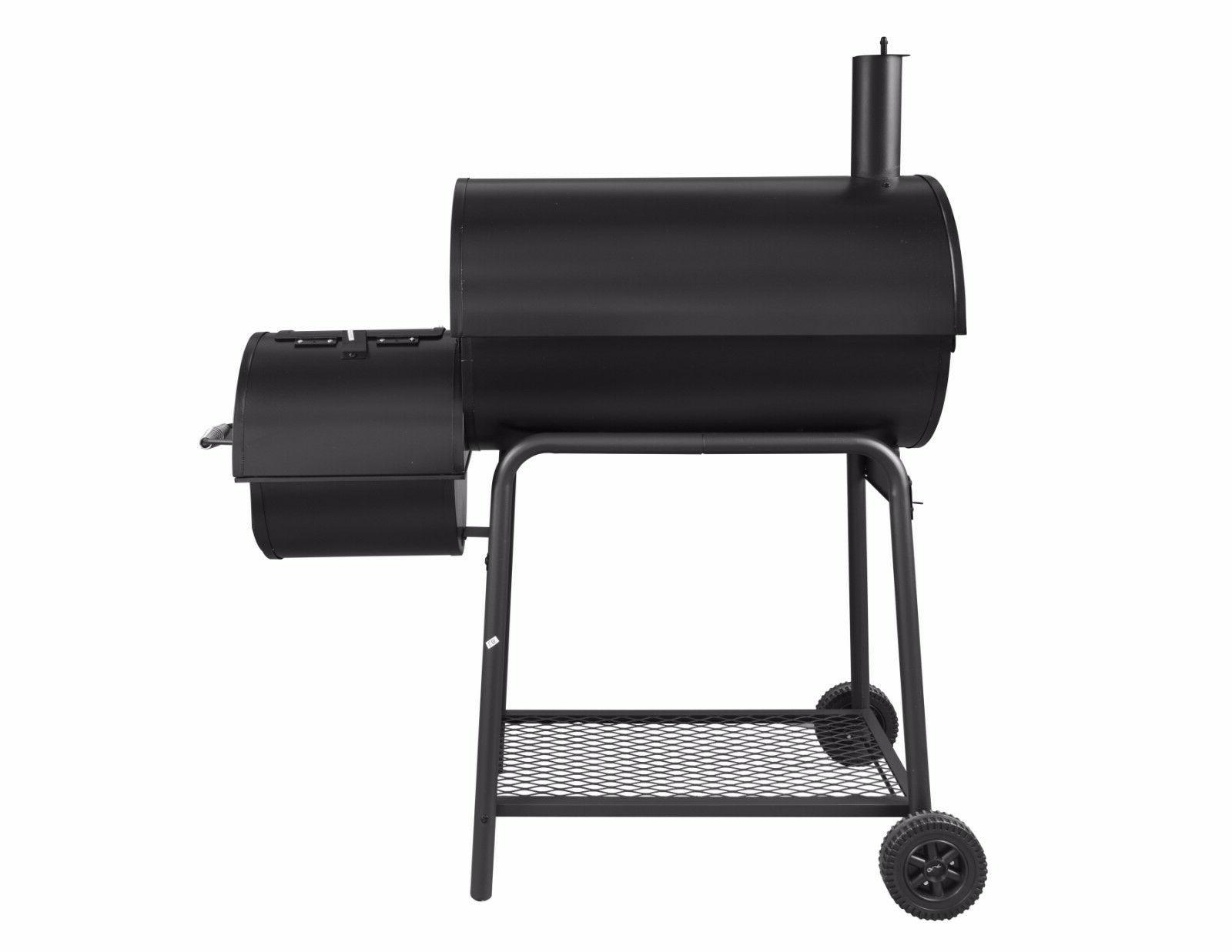 Royal Charcoal Offset Smoker CC1830F with Cover Space