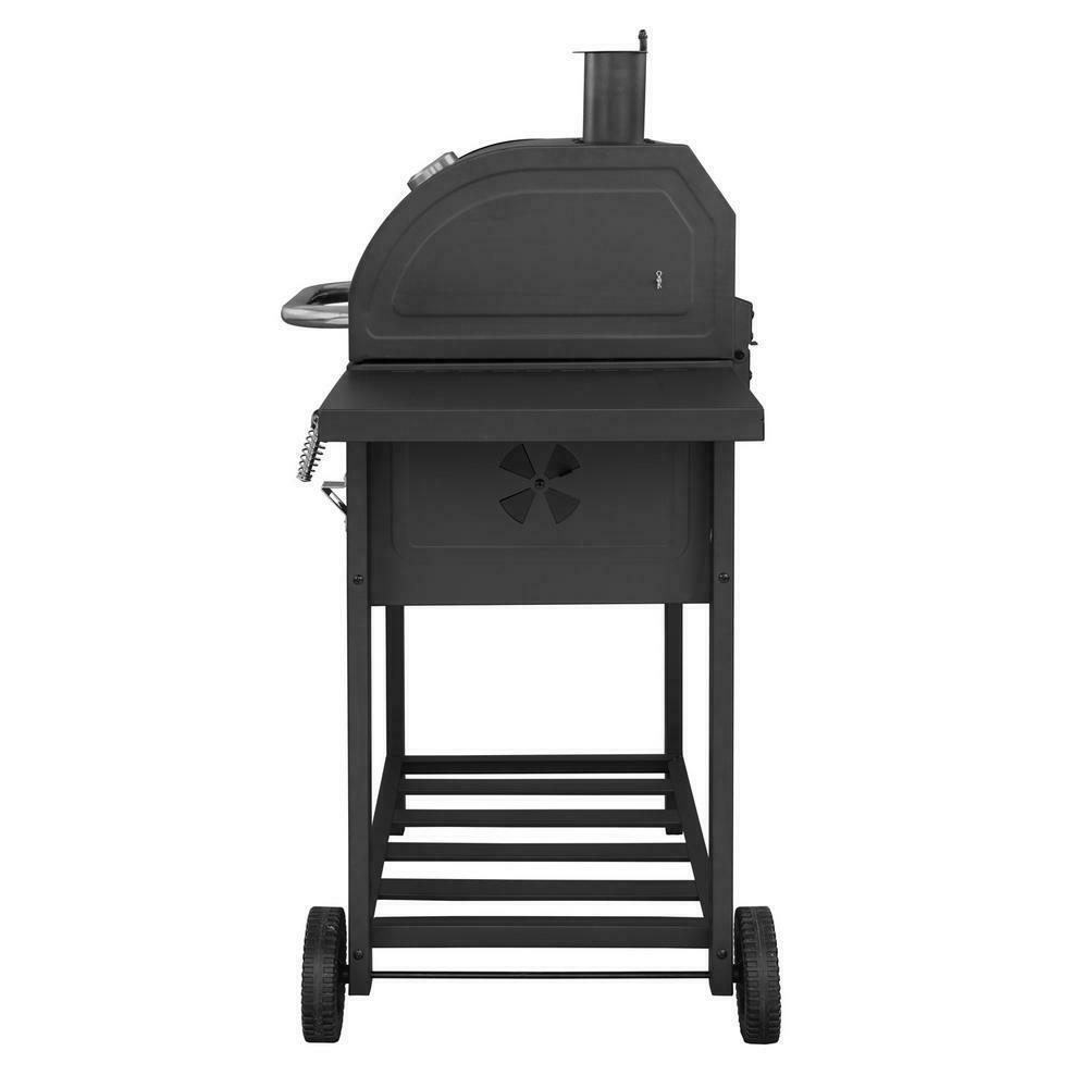 Large Charcoal BBQ Grill Side Control Patio Deck Cook