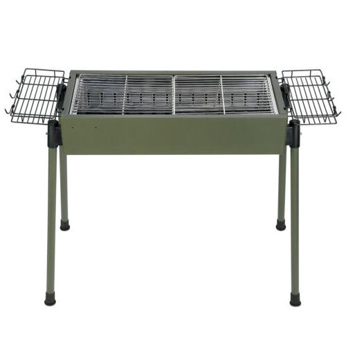 "30""BBQ Barbecue Charcoal Grill Stainless Steel Cooker Portable"