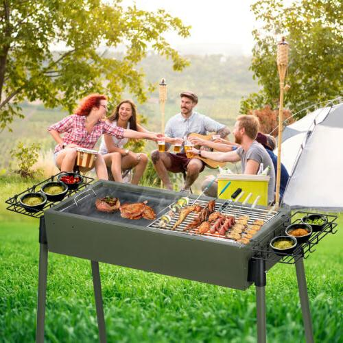 30 bbq barbecue charcoal grill stainless steel