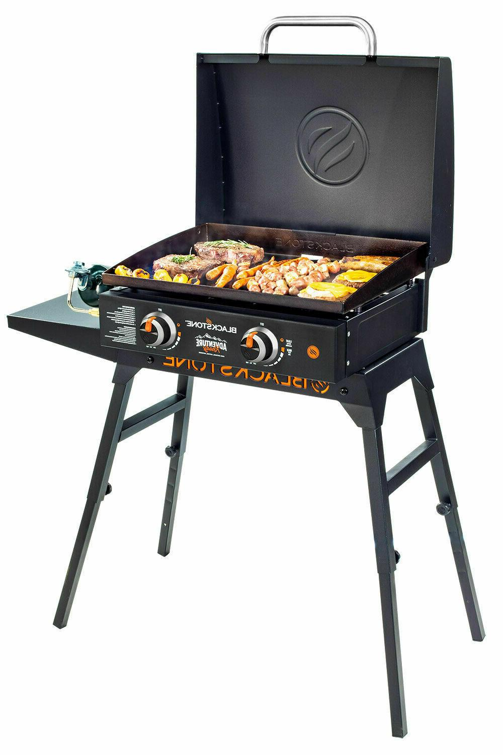 "Portable 22"" Blackstone Adventure Ready LP Gas Griddle Grill"