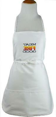 """Meat Fire Good Monogram Apron White 24"""" Long Barbecue Grill"""
