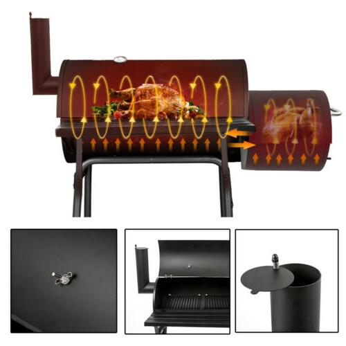 Outdoor Barbecue Pit Backyard Meat Smoker