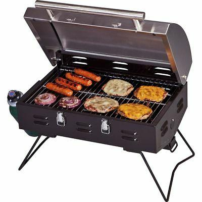portable bbq grill black stainless one size