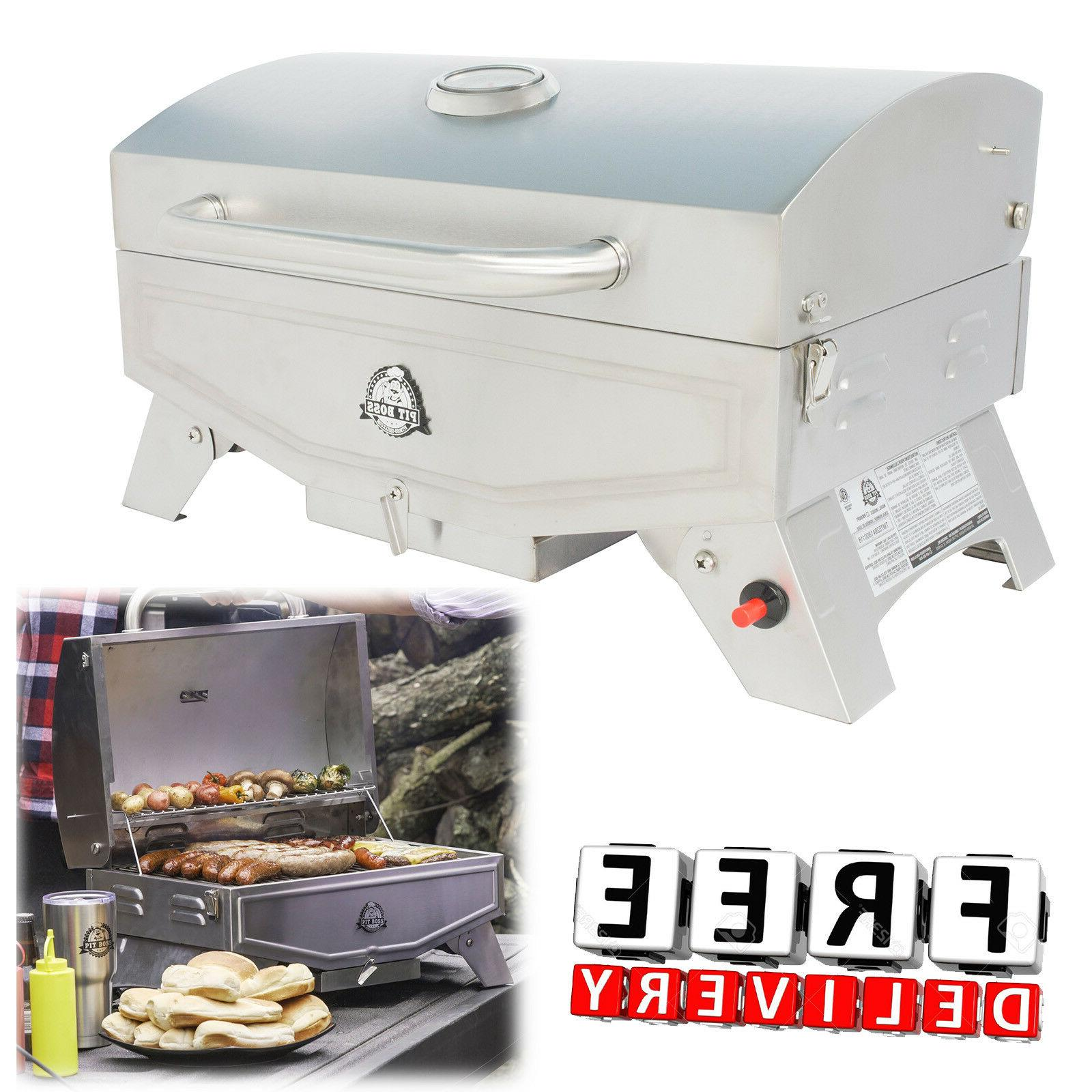 Portable Propane Gas Grill Stainless Steel Barbecue RV Outdo
