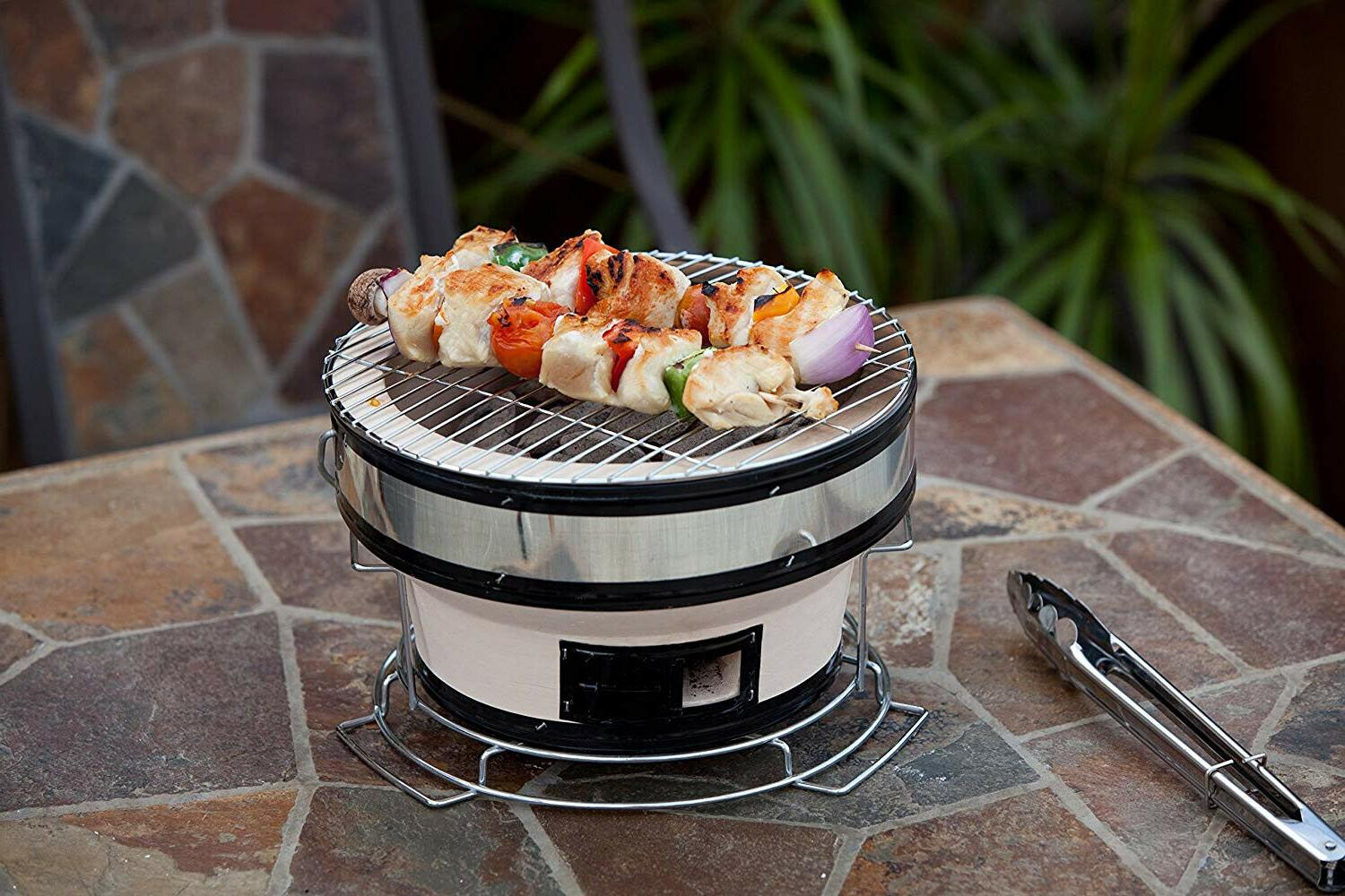 Portable Small BBQ Grill Japanese Cooking Round
