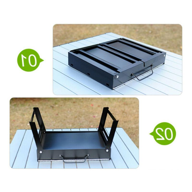 Portable Tabletop Grill BBQ Camping Picnic Air Vent Outdoor