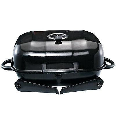 Portable Tabletop Charcoal Grill Air Vent Outdoor