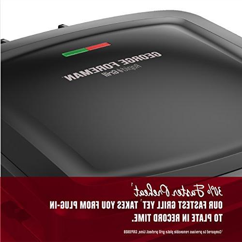 George Foreman Grill Series, Removable Panini Press, Black,
